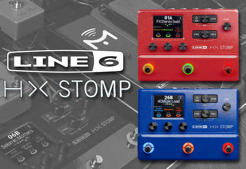 Line 6 HX Stomp Red II und Blue Limited Edition