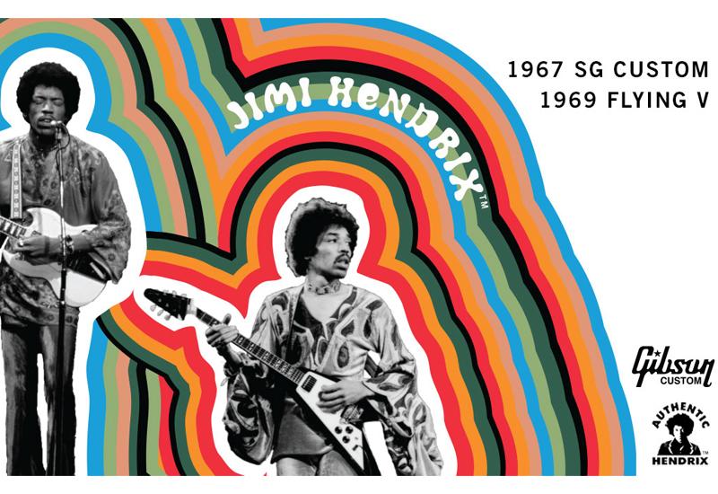 Gibson Custom Shop Jimi Hendrix 1969 Flying V & 1967 SG Custom