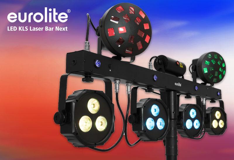 Eurolite LED KLS Laser Bar Next FX-Lichtset: Eine BAR, vielfältige Möglichkeiten
