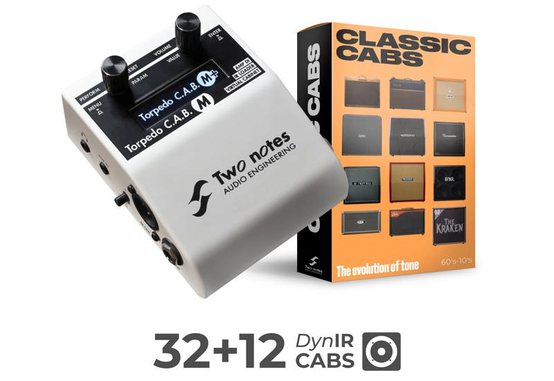 Two Notes Classic Cabs – Gratis Cabinet-Simulationen für Torpedo C.A.B. M Nutzer!