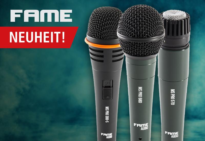 Neuheit: Fame MS Pro Mikrofone