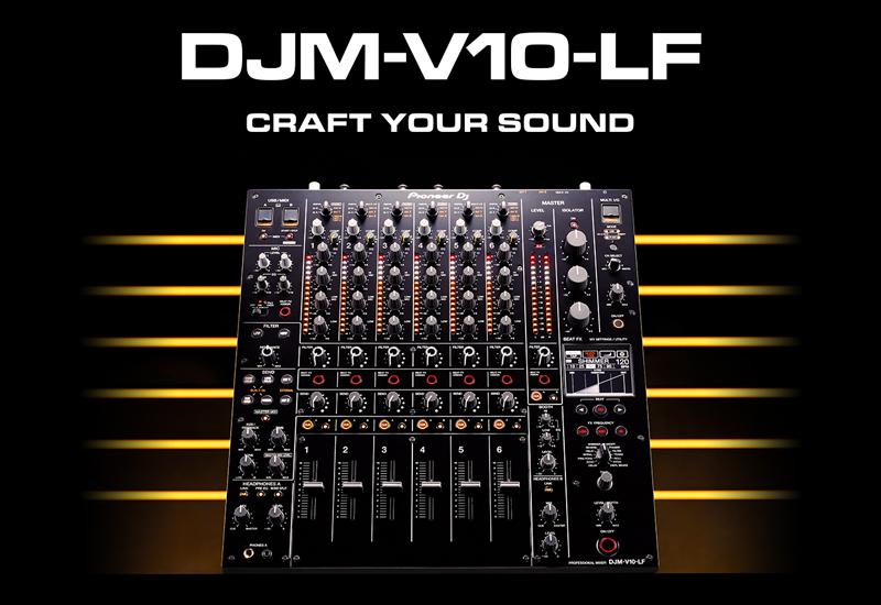 PIONEER DJ – DJM-V10-LF – Professioneller 6-Kanal DJ-Mixer mit langen Fadern