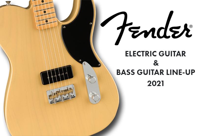 Fender Electric & Bass Guitar Line-Up 2021: Erfrischende Neuzugänge für das Jubiläumsjahr