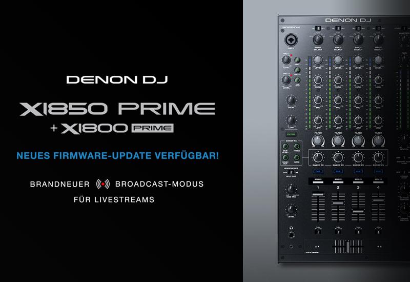 NAMM Show 2021 – DENON DJ – X1850 Firmware Update v1.3