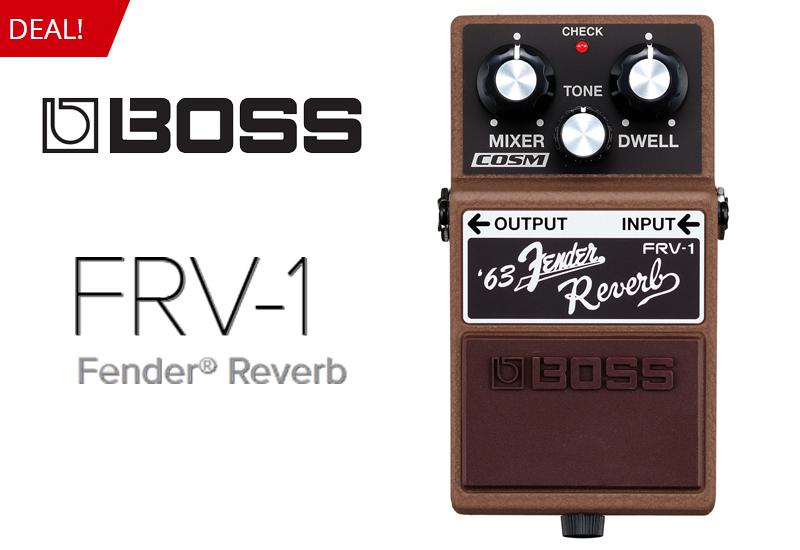Nur für kurze Zeit: Boss FRV-1 '63 Fender Reverb im MUSIC STORE professional!