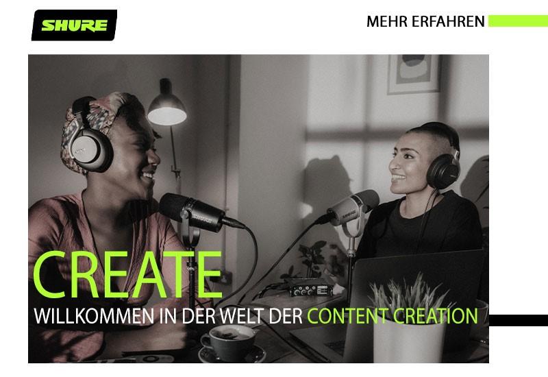 Shure MOTIV-Mikrofonserie: professionelle Audioqualität für Homeoffice, Livestreaming und Content Creation