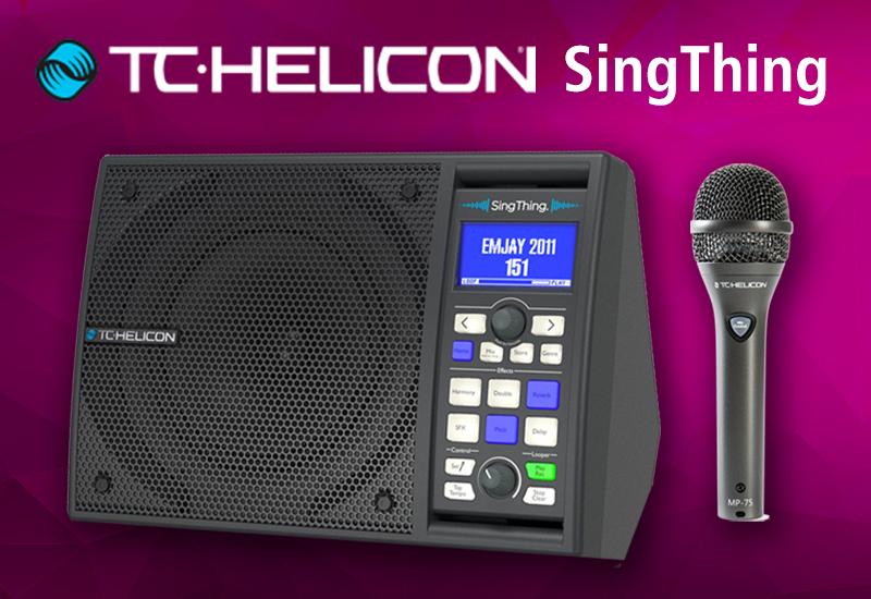 TC Helicon SINGTHING: All-In-One Lösung für das Home-Studio, den Singer-Songwriter oder Alleinunterhalter