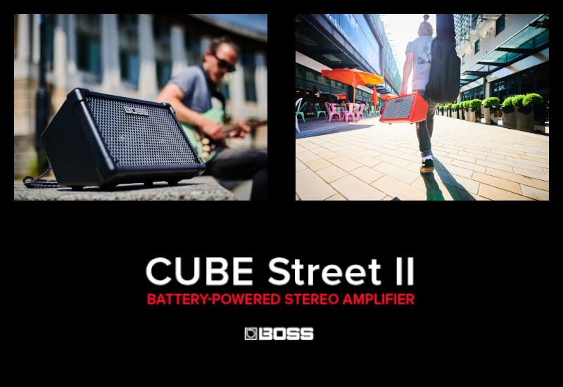 BOSS Cube Street II – Überarbeitete Batterie-Amps für Gitarre und Vocals