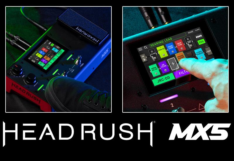 HeadRush MX5 – Kompaktes Modeling Floorboard mit Touchscreen