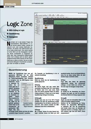 MIDI Editing in Logic Quantisierung Arpeggiator