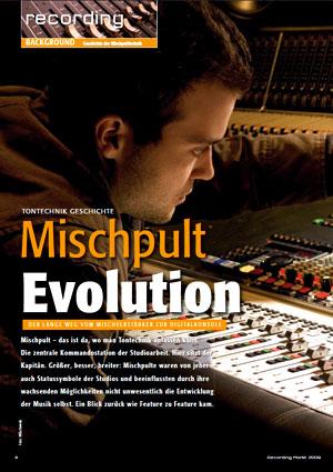 Tontechnik Geschichte - Mischpult Evolution
