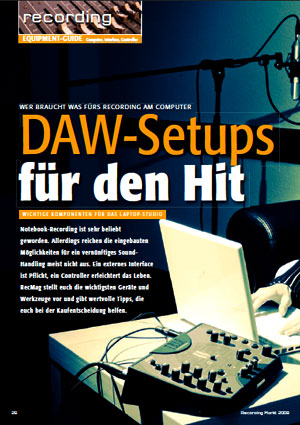 Equipment-Guide - Wer braucht was fürs Recording am Computer