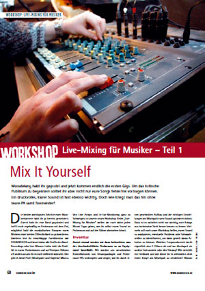 Workshop Live Mixing