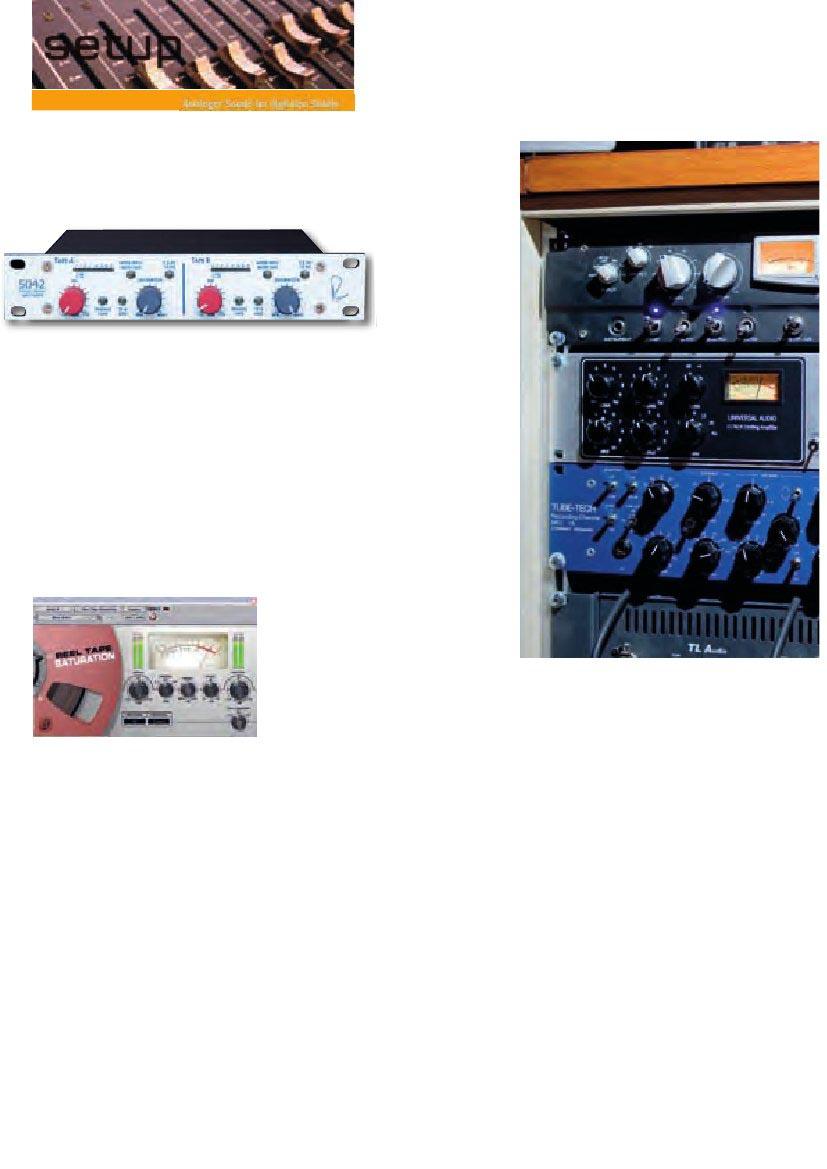 Projektstudio Analoger Sound im digitalen Studio