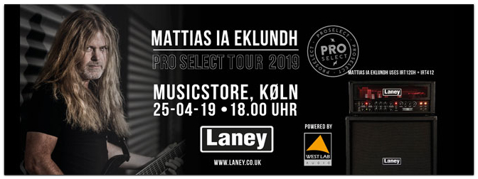 Mattias IA Eklundh Pro Select Tour am 25. 04. 2019 im MUSIC STORE!