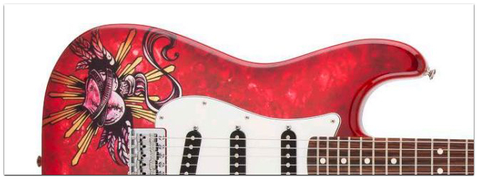 NAMM Show 2015 FENDER Lozeau 'Sacred Heart' Strat STD Limited Edition