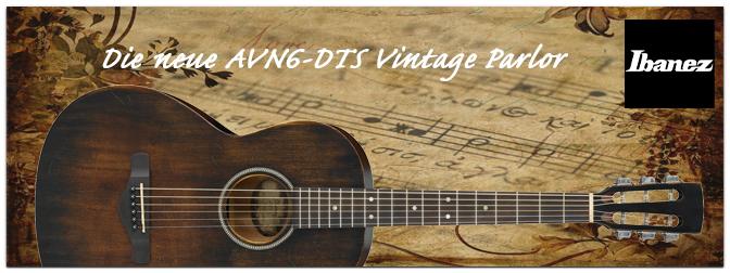 NAMM SHOW 2016: Ibanez präsentiert die AVN6-DTS Parlor mit Vintage Look und Vintage Feel