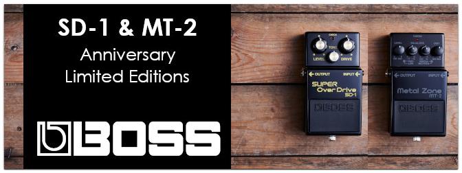BOSS SD-1 und MT-2 – Jetzt als limitierte Anniversary Editions erhältlich