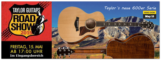 Taylor Road Show im Music Store