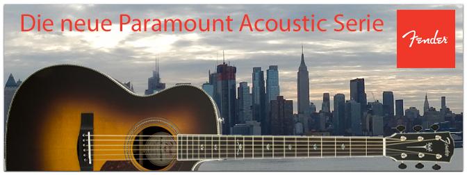 NAMM SHOW 2016 präsentiert die neue Fender Paramount Acoustic Serie