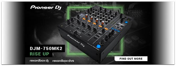 PIONEER DJ präsentiert den DJM-750MK2 4-Kanal-Mixer mit Club-Genen!