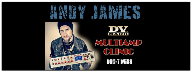 DV MARK Multiamp Clinic mit Andy James 14.09.13 um 14 Uhr