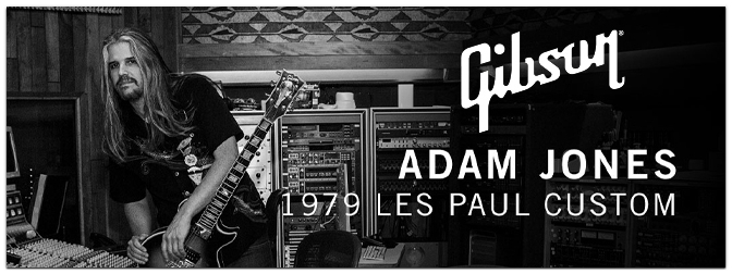 Limitierte Gibson Adam Jones 1979 Les Paul Custom Antique Silverburst Sondermodelle aus dem Gibson Custom Shop