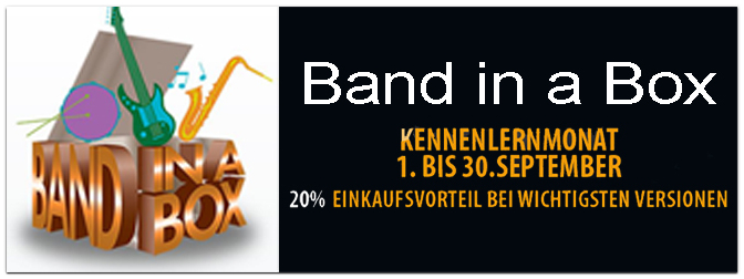 PG Music- Band in a Box 2015 -20% Rabatt