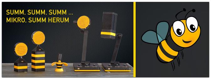 Neat Microphones – Mikrofone im Bienen-Design