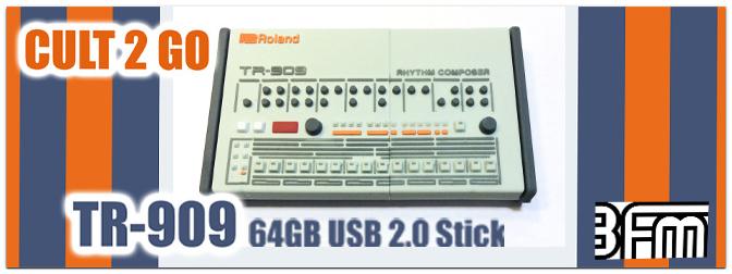 LIMITIERTE AUFLAGE: CULT2GO – TR 909 USB Sticks