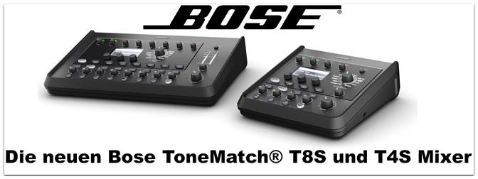 Namm Show 2018 – T8S und T4S ToneMatch® Stereo-Mischpulte