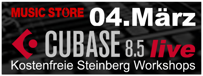 04.03.16 13h bis 19h Cubase Day bei Music Store in Köln