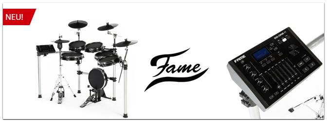 Jetzt neu: Fame DD-ONE Professional XT & DD-ONE Simon Phillips XT E-Drum Sets