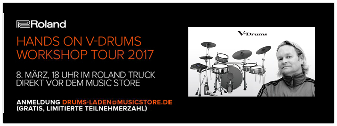 HANDS ON V-DRUMS WORKSHOP TOUR 2017