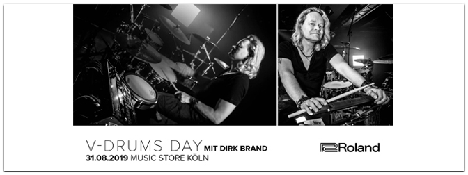 V-Drums Day mit Dirk Brand am 31.08.19 im Music Store