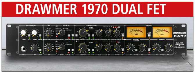 DRAWMER 1970 DUAL FET COMPRESSOR & PRE-AMPLIFIER
