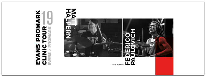 Evans & Promark Clinic Tour mit Matt Halpern und Federico Paulovich am 13. Mai im Store!