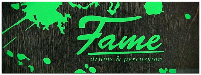 FAME Green Splatter Cajon