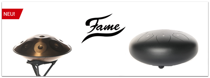 Ab sofort bei uns: Fame Handpan und Steel Tongue Drums