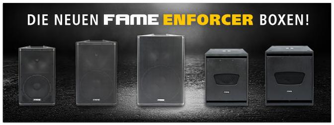 Fame Audio Enforcer: die neue Serie aktiver Lautsprecher und Subwoofer