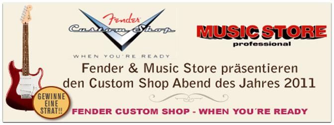 Fender Custom Shop Abend im Hard Rock Café