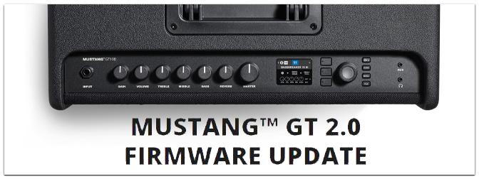 Fender Mustang GT 2.0 Firmware Update veröffentlicht!