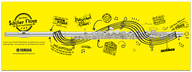 Die neue Schüler-Flöten Reihe von Yamaha: YFL-Serie 200, 300 & 400