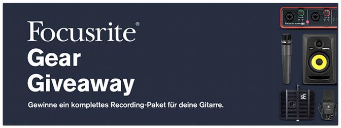 Komplettes Recording-Paket für Gitarre gewinnen