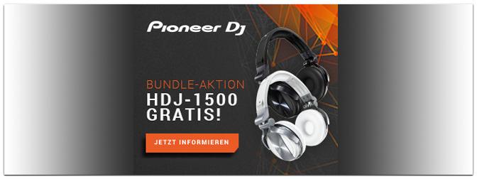 Pioneer HDJ-1500 – GRATIS als Zugabe zum DDJ-SZ oder DDJ-SX2!