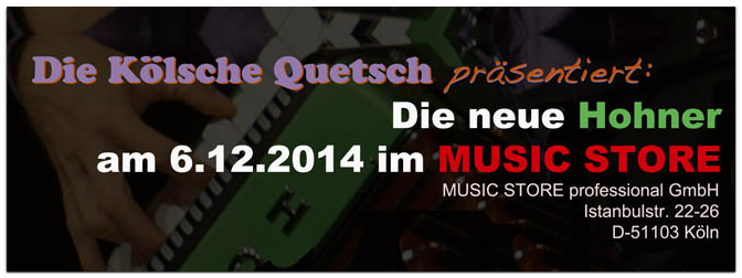 Vorstellung der neuen Hohner am 6.12.2014 im MUSIC STORE