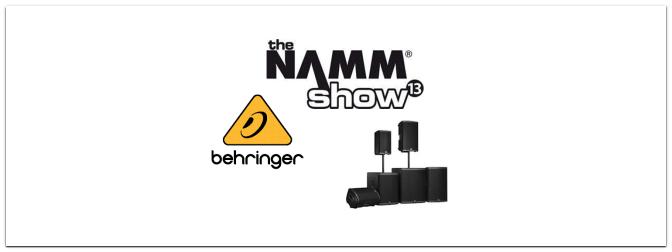 NAMM 2013 – BEHRINGER vernetzt sich mit der neuen iQ Serie