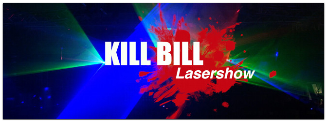 Kill Bill Theme Lasershow @ Music Store