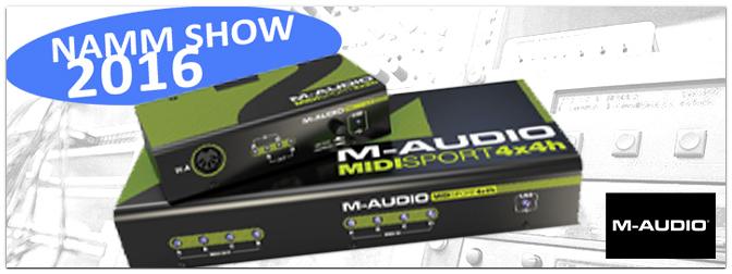 NAMM SHOW 2016: M-Audio stellt neue MIDI / USB HUBS vor!