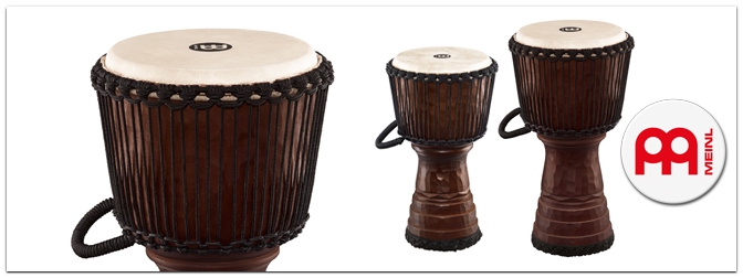 NAMM 2014 – MEINL Tongo Carved Djembes